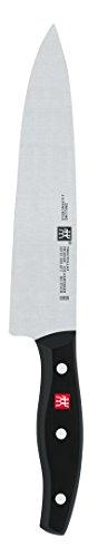 Zwilling Twin Pollux Kochmesser, 200 mm (Rostfreier Spezialstahl, Zwilling Sonderschmelze, genietet, Vollerl, Kunststoff-Schalen) schwarz