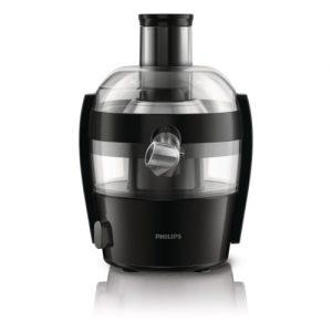 Philips HR1832/00 Viva Collection Entsafter 400 W, kompaktes Design, 1,5 L in einem Durchgang, schnelle Reinigung, schwarz