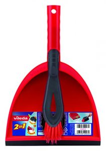 Vileda 141743 Kehrset 2-in-1 – sauber Auffegen in einem Zug – mit extra Borsten für Sauberkeit in den Ecken – leicht verstaubar