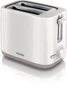 Philips HD2595/00 Toaster (2 Toastkammern, 4 Funktionen, Liftfunktion) weiß
