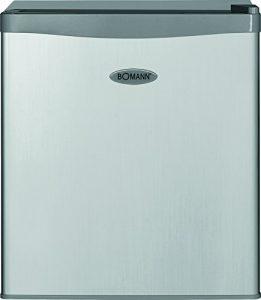 Bomann KB 389 Mini-Kühlschrank / A++ / 51 cm Höhe / 84 kWh/Jahr / 42 Liter Kühlteil / regelbarer Thermostat / Kühlmittel R600a silber