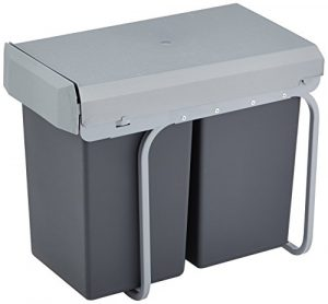 Wesco 12381 New Double-Boy Einbaueimer 2x 15 Liter, 39 x 25 x 45 cm, schwarz
