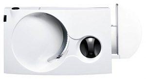 Siemens MS4000W Allesschneider Universal-Wellenschliffmesser, klappbar, 100 W, weiss / anthrazit