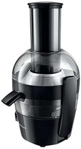 Philips HR1855/00 Entsafter (700 Watt, 2 Liter, 1 Min QuickClean, Saftbehälter) schwarz