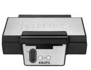 Krups FDK 251 Waffeleisen, 850 Watt für Belgische Waffeln, schwarz – edelstahl