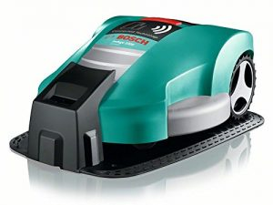 Bosch DIY Mähroboter Indego 1000 Connect, Ladestation, Netzgerät, 200 m Begrenzungsdraht, Befestigungsklammern,Karton (Für bis zu 1000m² Rasenfläche, Mähfläche pro Ladung: bis zu 200 m²)