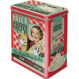 Nostalgic-Art 30123 Say it 50's Have A Coffee, Vorratsdose L