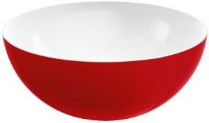 Emsa 509461 Rundes Schälchen für Salat, Kunststoff, 4 Liter, Ø 26.5 cm, Rot, myColours Duo