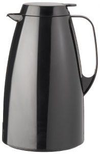 Emsa 505363 Isolierkanne, 1.5 Liter, Quick Tip Verschluss, 100% dicht, Schwarz, Basic
