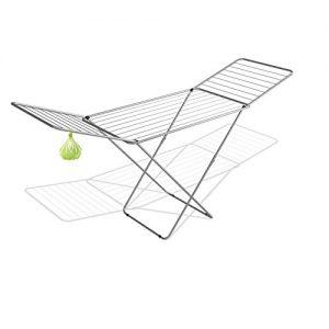 Wäscheständer Silber 20m + Klammernbeutel Wäschetrockner Flügelwäschetrockner Wäsche Trocknen
