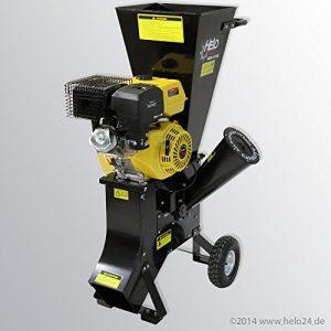 HELO Benzin Schredder HBS 13/102 mit starkem 13 PS 4-Takt OHV Motor, 22 Messer inklusive, Häckselleistung: max. 26 m³/ h, hexelt bis zu 76 mm dicke Äste
