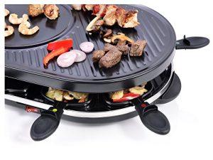 Bluespoon Raclette Gourmet Set für 8 Personen 1200W Antihaftbeschichtet