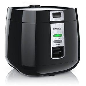 Arendo – Reiskocher | Dampfgarer / Dampfgarerfunktion | 1,4l Kapazität | einfache Bedienung | Überhitzungsschutz + Thermosicherung | automatische Warmhaltefunktion | 540W | wärmeisolierendes Doppelwanddesign