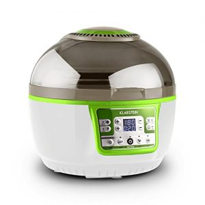 Klarstein VitAir Turbo Heißluftfritteuse Fritteuse (1400 Watt, 9 Liter Garraum, fett-frei Frittieren, Backen, Grillen, Rösten) grün-weiß