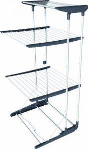 Vileda Viva Dry Multiflex Turmwäscheständer mit höhenverstellbaren und rausnehmbaren Trockenregalen