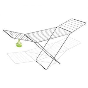 Wäscheständer 18m + Klammerbeutel silber Trockengestell Flügelwäschetrockner Wäschetrockner