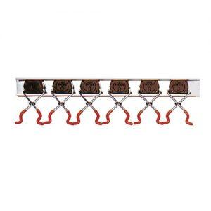 BRUNS SB6.10A Universal-Gerätehalter-Set, 6 Halter und Schiene, 1 m