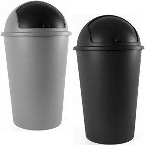 Abfalleimer 50L Push Can – mit Schiebedeckel – 68cm x 40cm schwarz