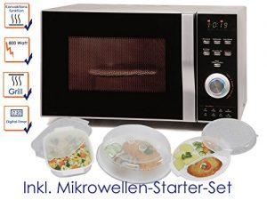 Kombi-Mikrowelle mit Grill und Heißluft 23L mit 800W/1200W, inkl. 5-tlg. Starter-Set