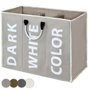 Jago Wäschesammler Wäschebox Wäschekorb mit 3 Wäschefächer Wäschesortierer – Farbwahl