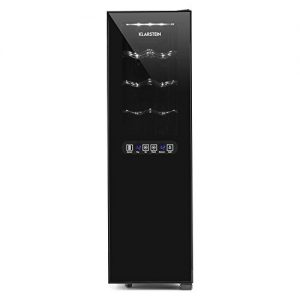 Klarstein Bellevin 16 Weinkühlschrank Getränkekühlschrank (45 Liter, 16 Flaschen, 2 Zonen, 6 Regaleinschübe, Touch-Bedienung, LCD-Display) schwarz