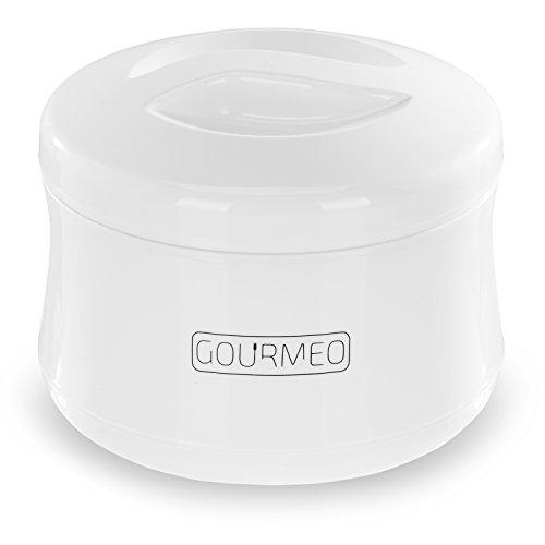 GOURMEO Premium Joghurtbereiter für Natur-Joghurt, Soja-Joghurt, Quark, 1 Liter Fassungsvermögen, ohne Strom, einfache Reinigung mit 2 Jahren Zufriedenheitsgarantie - Joghurt-Maker / Joghurt-Gefäß / Yoghurt-Maker / Yoghurt-Bereiter