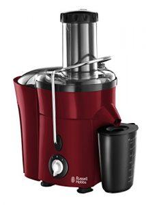 Russell Hobbs Desire 20366-56 Entsafter (2 l Fruchtfleischbehälter und 750 ml Saftbehälter, 550 W ) rot