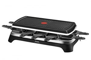 Tefal RE4588 Raclette-Grill für 10 Personen, 1350 W, schwarz / edelstahl