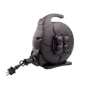 Kabeltrommel Automatik 15m IP44ledkia Negro
