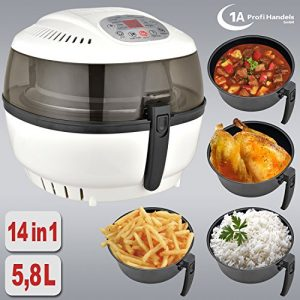 HEISSLUFTFRITTEUSE MULTI HEISSLUFT FRITTEUSE OHNE FETT MULTICOOKER MULTIKOCHER SUPPENKOCHER SUPPENMIXER REISKOCHER Heißluft-Multifritteuse Multibackofen & Suppenautomat & Reiskocher & Grill ECO AIR-PROFI SOUP DC-1400W