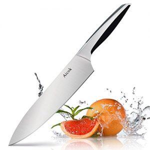 Aicok Kochmesser, High Carbon Edelstahl Messer Asiatischer Art, Scharfes Küchenmesser Mit Premiumklinge