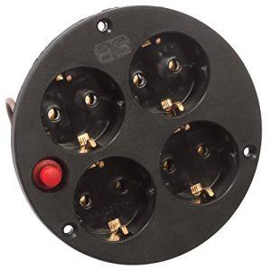 as – Schwabe 4-fach Steckdoseneinsatz IP20, Schutzkontakt und Thermoschutz, 230 V, 10542