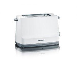 """Severin AT 2289 Automatik-Toaster """"Start"""" / 800 W / Brötchen-Röstaufsatz / weiß-grau"""