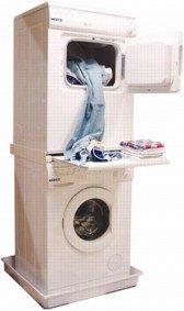 DREHFLEX® – Zwischenbaurahmen Waschsäule für Waschmaschine und Trockner / mit Auszug