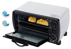 Mini Backofen 12 Liter 1000 Watt Ofen Kleiner Ofen Miniofen Temp. 100°-230° Ober – Unterhitze Timer