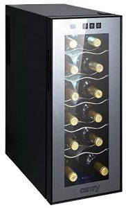 Weinkühlschrank 33 Liter 12 Flasche Weinkühler Weinklimakühlschrank Mini Kühlschrank Minibar mit Glastür LED Beleuchtung