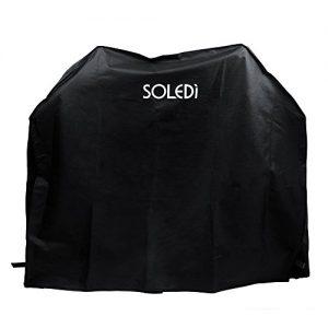 SOLEDI Grillabdeckung BBQ Grill Abdeckhaube Gasgrill Schutzhülle Haube 136 x 64 x 116cm