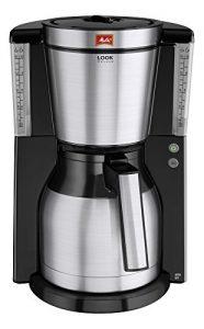 Melitta Kaffeefiltermaschine Look Therm DeLuxe, Aromaselector, Kalkschutz, schwarz/Edelstahl 101114