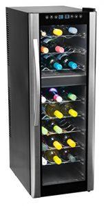 MEDION MD 37117 Weinkühlschrank Freistehend / C / 27 Flaschen / zwei Temperaturzonen / elektrische Temperatursteuerung /silber, schwarz