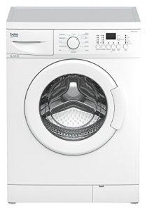Beko WML 51231 E Waschmaschine Frontlader / A+/ 1200 UpM / 0.688 kWh / 5 kg / Weiß / 33 Liter / Display mit Startzeitvorwahl und Restzeitanzeige / Großes Programmauswahl