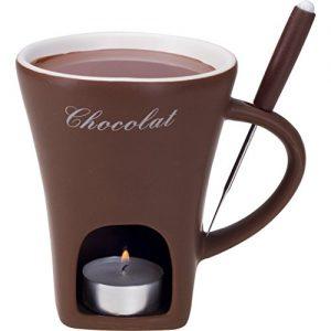 Schoggifondue Tasse braun Schokoladenfondue