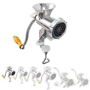 TecTake Fleischwolf Aluminium manuell Zerkleinerer mit Handkurbel – diverse Größen – (Größe 5 (Nr. 400593))