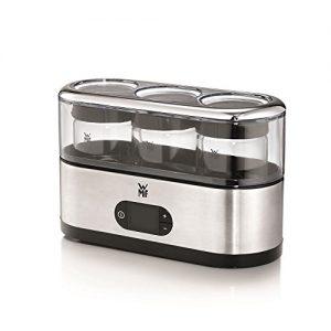 WMF KÜCHENminis Joghurtbereiter inklusive 3 Joghurt-to-go-Becher BPA-frei, 150 ml pro Joghurtbecher, cromargan matt/silber