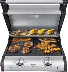 Premium BBQ-Tischgrill VG 500, Tischgrill zwei individuell regelbaren Heizsystemen