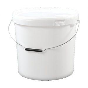 20 liter Eimer mit Deckel, weiß