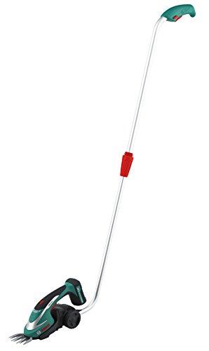 Bosch DIY Akku-Grasschere, Akku, Ladegerät, Teleskopstange, Grasscherblatt, Karton (7,2 V, 8 cm Messerbreite)