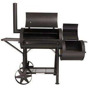 TAINO® PROFI XXL 90kg-Smoker BBQ GRILLWAGEN Holzkohle Grill Grillkamin 3,5 mm Stahl PROFI-QUALITÄT