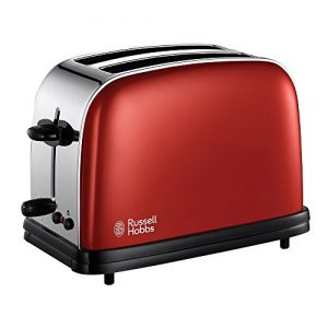 Russell Hobbs 18951-56 Colours Flame Red Toaster, 1200 Watt