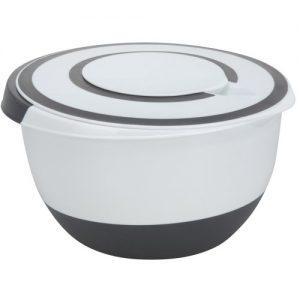 Rührschüssel 5 Liter Deckel Rühröffnung Stoppboden Schüssel 5L Frischhaltedose
