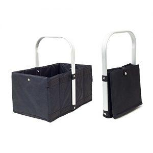 achilles®, Handle-Box, AD253bl, Faltkorb, Einkaufskorb mit Faltsystem, schwarz, 40 cm x 24 cm x 20 cm